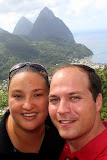 Self-Portrait With The Pitons - Castries, St. Lucia