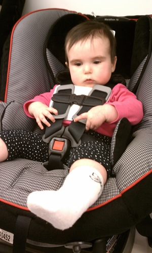 in carseat in babies r us