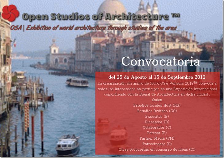 Convocatoria OSA2012