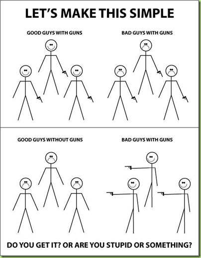 guns good guys bad guys
