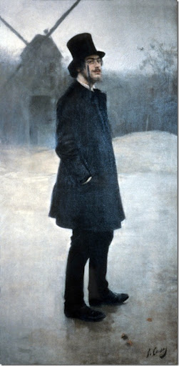 Ramón CasasErik Satie (El bohemio; Poet of Montmartre), 1891oil on canvas, 198.8 x 99.7 cm (78 1/4 x 39 1/4)Northwestern University Library