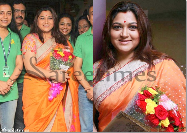 Kushboo_Orange_Saree