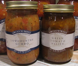 #LCPLC3105 Lowcountry Gumbo 16oz $9.00  32oz $13.00 #LCPLC2125 Green Tomato Relish 16oz $9.50