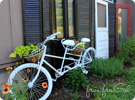 Tandem Bike Planter