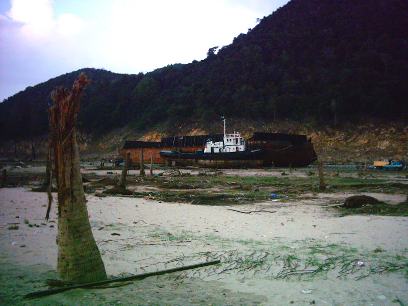 A ship tossed ashore by the 2004 Indian Ocean Tsunami  - Revolutionary Life