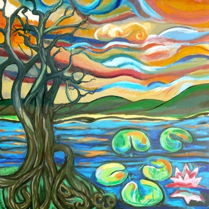 tree lilies sunrise genevieve esson