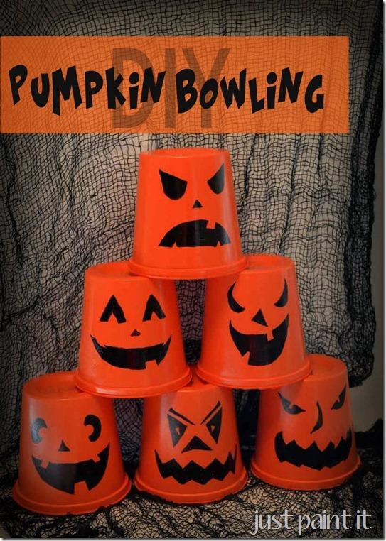 DIY Pumpkin Bowling
