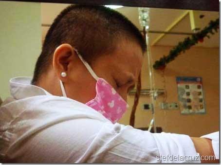 Cecile battles lung cancer