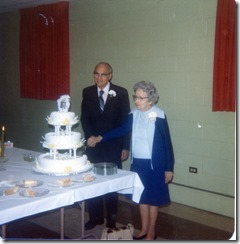Bernhardt, Albert and Myrtie 1979 50 Wedding Anniversary
