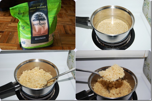 Quinoa cooking process