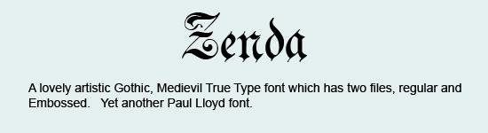 Zenda-Font