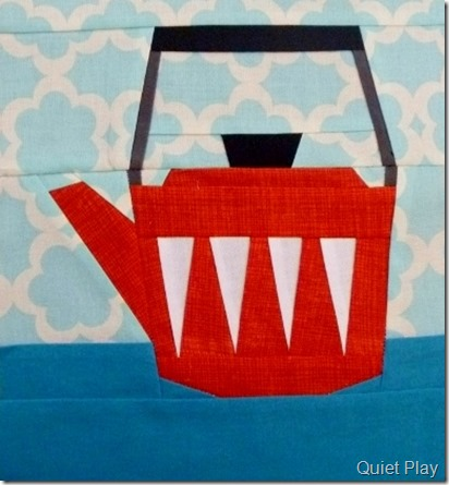 Paper Pieced Retro Kettle