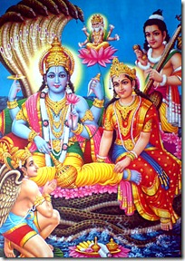 Narayana in Vaikuntha