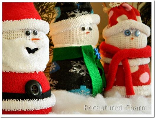 Sock Snowman Sock Santa 017a