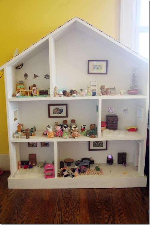 Ana White Dollhouse Bookcase