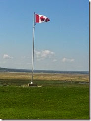 Canadian Flag at fort
