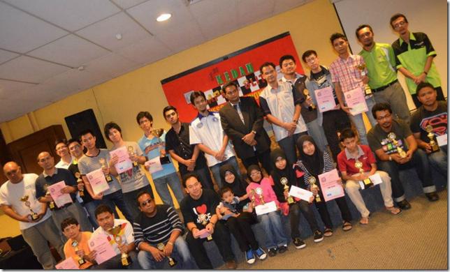 Winners, Arbiters, Organisers of Kedah Chess Rapid 2013