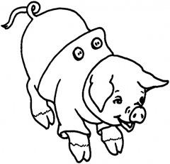 porquinho-Desenhos e Riscos para colorir