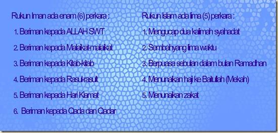 rukun iman islam