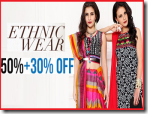 Myntra:Get Minimum 50% OFF on Women Ethnic wear with Extra 30% OFF on Rs. 999