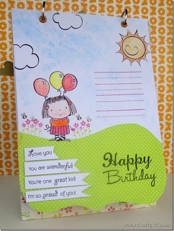 CraftyJC 10th Birthday Flip Card 3
