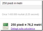 Usare Google come convertitore di misure