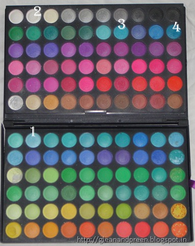 Eyeshadows Used