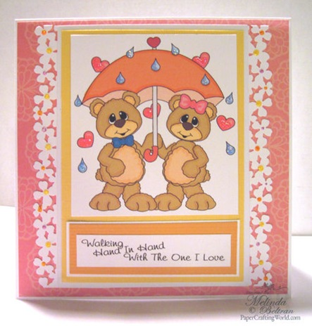 bear umbrella spring clipart digital stamp500