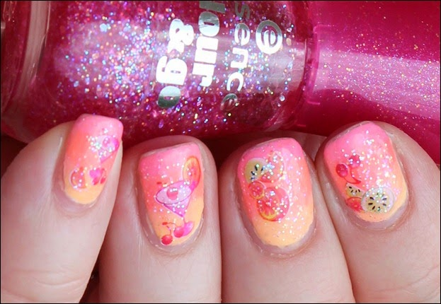 Tropical Island Cocktail Nail Art Glitter