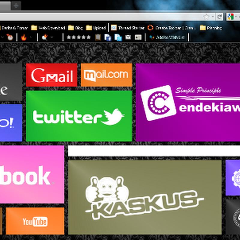 Cara Membuat Home Page Browser Yang Unik