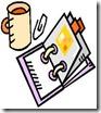 calendar and coffee mug