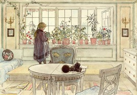 flowers-on-the-windowsill-carl-larsson