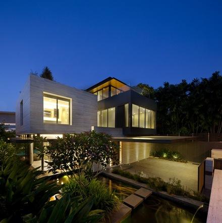 Revestimiento-muros-casa-Travertino-Wallflower-Architecture-Design