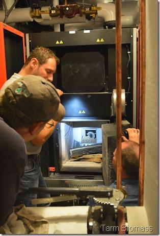 Prepping Firebox Stowe Froling TX 150
