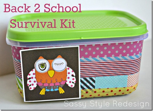 DIY locker accessories bacl to school survival kit