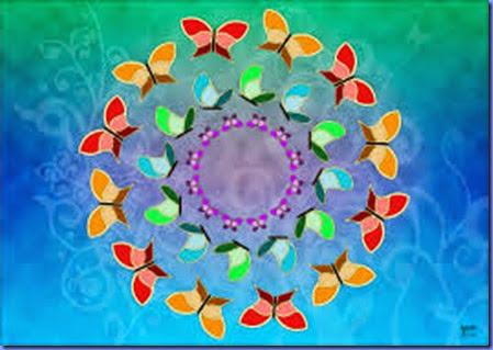 borboletas circulares
