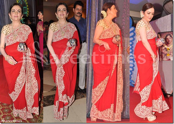 Neeta_Ambani_Red_Saree