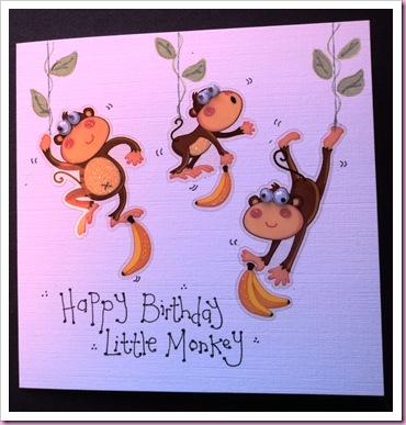 Little Monkey Card 2