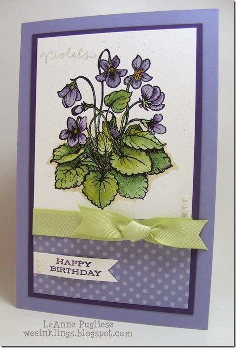 LeAnne Pugliese WeeInklings Violet Birthday Stampin