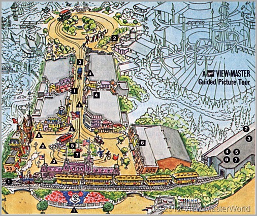 View-Master Disneyland Main Street and Primeval World (A175): Map of Main Street