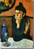Picasso - Absinthe drinker