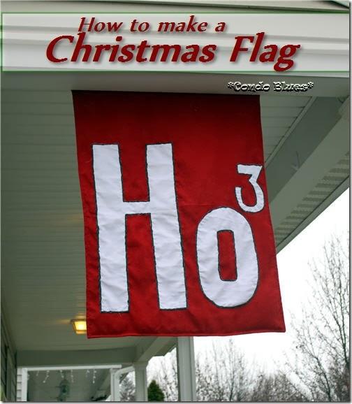howtomakeChristmasdecorflag