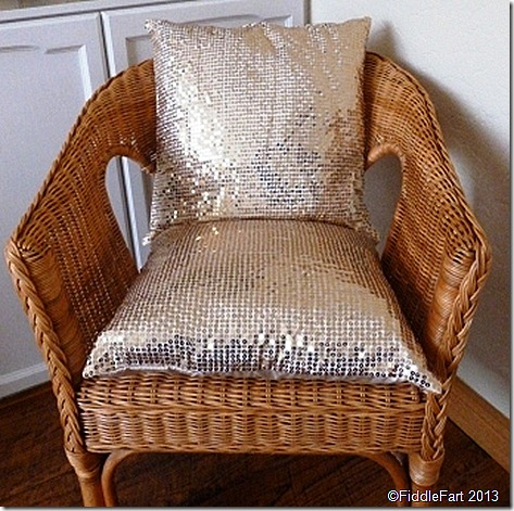 Sequined cushion covers