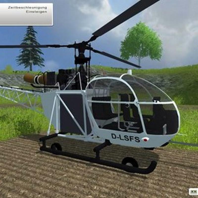 Farming simulator 2013 - Alouette II helicopter v 2.0