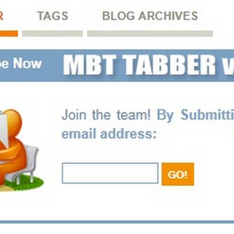 New Multi Tabbed Widget For Blogger - Editable Tabs
