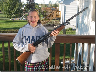 #4 of 5 after getting her Minnesota State Firearm Safety Certificate!