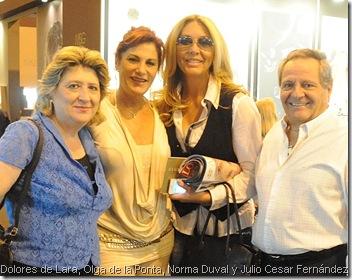 Dolores de Lara, Olga de la Ponta, Norma Duval y Julio Cesar Fernández