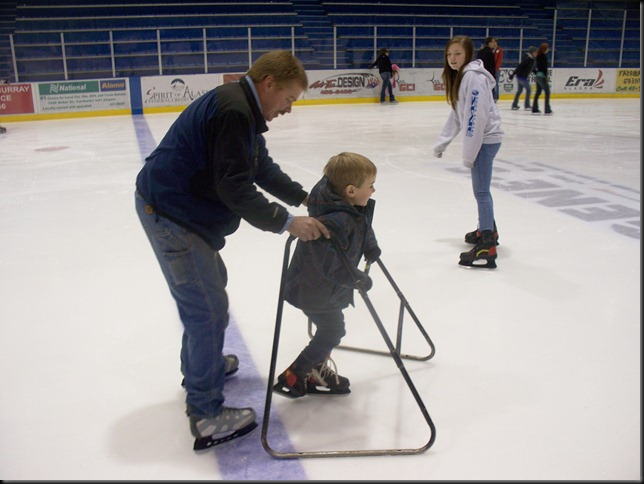 first steps on the ice