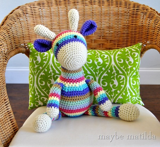 Stripey Crochet Giraffe by maybe matilda