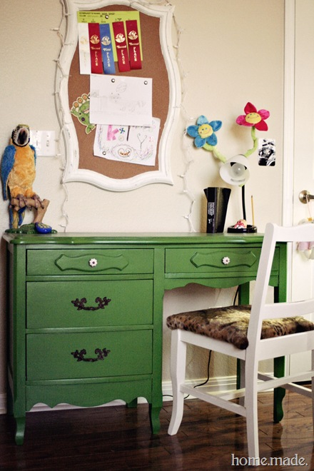 Green Desk Makeover home.made.